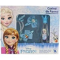 Corine de Farme- Caja de Frozen con 1 colonia de 30 ml, 2 horquillas, 1 anillo y 1 pulsera