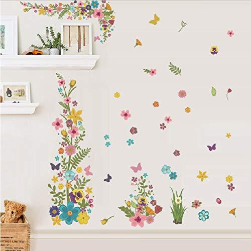 Blumen Reben Wandaufkleber Für Zuhause Hochzeit Dekoration Zubehör DIY Natürliche Pflanze Decor Wandbild Wand PVC Kunst Aufkleber 70 * 150 cm ()