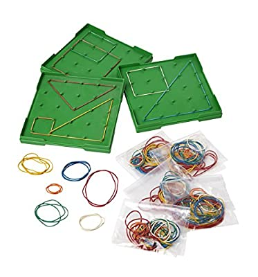 Linex Double-Sided Geo Boards with Rubber Bands Kit from Linex