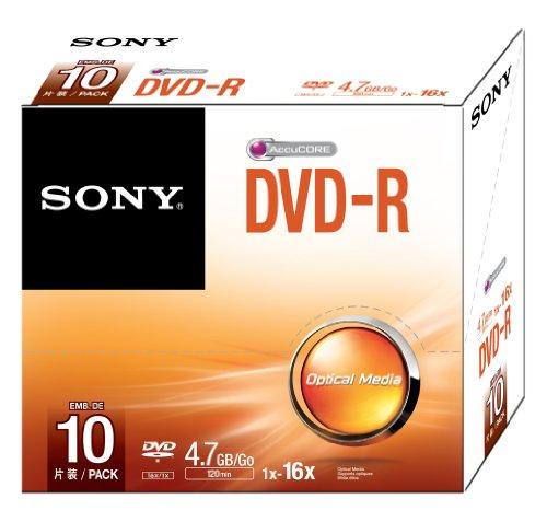 Sony dvd-r 4.7gb 10dmr47ss - confezione da 10