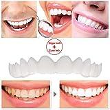 Dentadura temporal de 5 pares Ajuste cómodo Dientes flexibles Sonrisa instantánea Brackets superiores e inferiores