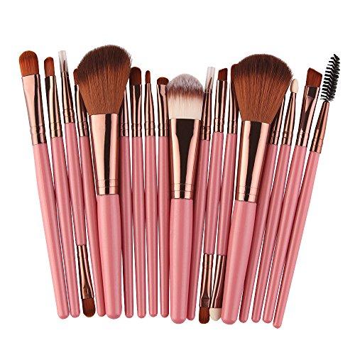 Bluestercool 2019 Pinceaux à Maquillage Nouveau 18 pcs Make-up Outils de Beauté Brosse Brush Ensemble Professionnel Pinceau, Rose, Noir, Vert