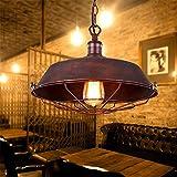 Sparkling FRD Vintage Industriale Fenghuang Lampadario Cafe Restaurant Balcone Lampada a sospensione Lampada a sospensione Lampada a sospensione,regolabile,36 * 26 * Lunghezza catena 100cm