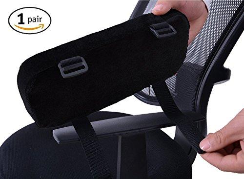 SMELOV ® Dick Memory Foam Rollstuhl Armlehne Pad mit verstellbaren Trägern, rutschfeste Polster - Universal Ellenbogen Kissen für eelbow Schmerzlinderung - Beste für Büro Schreibtisch Stühle (Set von 2) (Computer-schreibtisch Und Stuhl-set)