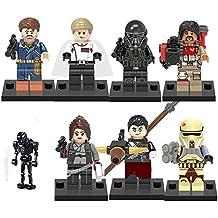 Star wars minifigura Rogue un - 8pcs Minifigure - Cassian Andor Jyn Erso Imperial Hovertank trooper Imperial Mort trooper star K-2SO Chirrut Imwe Baze Malbus - Star Wars rogue one générique