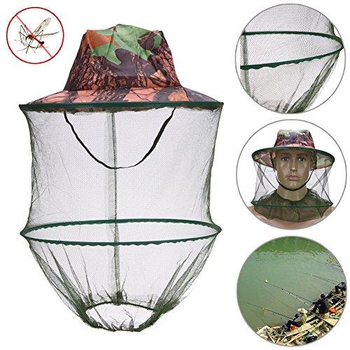 Queta 1Stück Camouflage Outdoor Angeln Hat Moskitonetz Bienenzucht Hat Fliegende Insekten Prävention Gap Bucket Hat Bee Bug Mesh Hat–Mosquito Angeln Hat