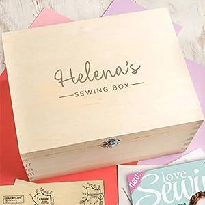 Personalisiertes Nähkästchen - Aufbewahrungskiste für Nähzeug und Stoff - Geschenkideen Hobbyschneiderin- Valentinstag Geschenk für sie - kreatives individuelles Weihnachtsgeschenk