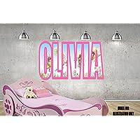 Fairies Feen Pink Rosa personalisierte Namen Wandtattoo Kinder Jungen Mädchen Wand Aufkleber Wand Kunst Transfer Aufkleber