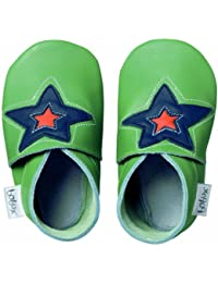 Bobux BB 4147 Green Astro Star - Zapatos, diseño de estrella, color verde