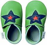 Bobux BB 4147 Green Astro Star Babyschuhe, Design Stern, Grün Taille M Vert avec étoile
