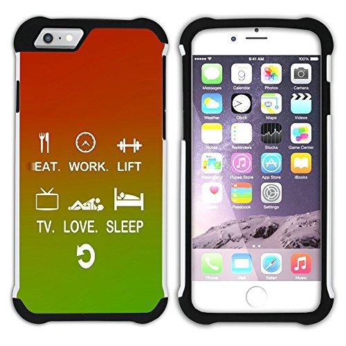 Graphic4You Gym Motivierung Zitate Krafttraining Hart + Weiche Kratzfeste Hülle Case Schale Tasche Schutzhülle für Apple iPhone 6 / 6S Design #9
