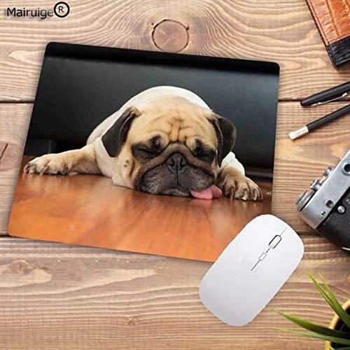 Mode Benutzerdefinierte Nette Mops Hund Mauspad rutschfeste Gummi Mauspad Russischen Nationalen Mauspad von Computer und Büro 22X18 cm