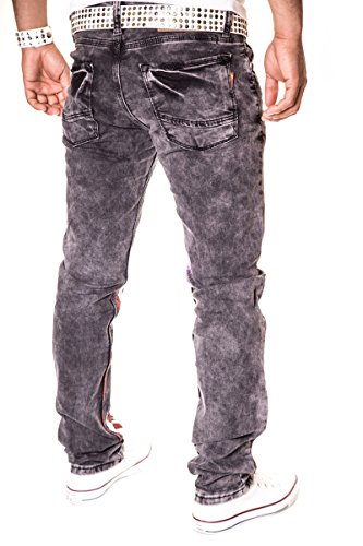 HERREN JEANS HOSE STRAIGHT CUT FIT STRETCH W29-W38 3130 Dunkel