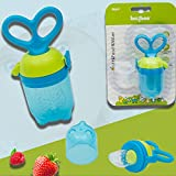 Baybee Baby Food Feeder Pacifier-Organic/Fresh Food Feeder for 3-24 Months Infant&Newborn&Toddlers Fresh Fruit Nibbler,2 Silicone Sac (Blue 1 Pack) (Blue)