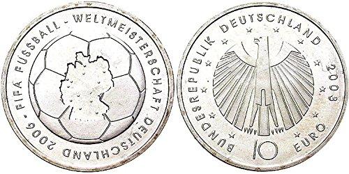 Münzen für Sammler BRD Schönnr: 110 F (223F) Fußball-WM 2006, Stempelglanz 2003 10 Euro Silber