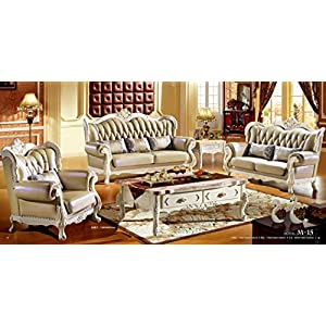 Ma Xiaoying Möbel Collection 3er Set (Sofa und Liebesschaukel & Stuhl) Wohnzimmer Set, grau Farbe by