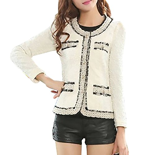 Oberteile Damen Strick Pullover Crochet Langarm Kimono Spitze Shirt Cardigan Strickmantel Mantel Outwear (Achselzucken Crochet Langarm)