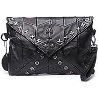 Jonon da donna in vera pelle di pecora Studded Donna Frizione Borsa Crossbody Bag