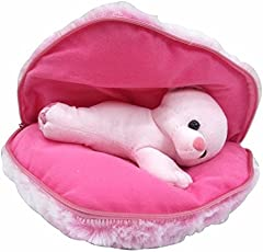 Saugat Traders Plush Teddy in Heart Cushion, Large (Pink)