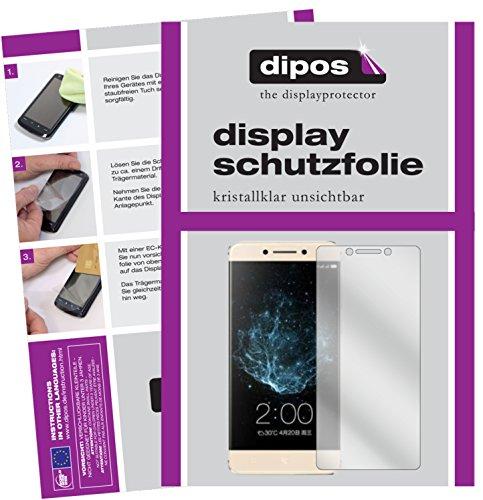 dipos I 2X Schutzfolie klar passend für LeEco Le Pro 3 Elite Folie Displayschutzfolie