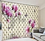 H&M Gardinen Vorhang Magnolia Verschliffgrad Schatten Tuch UV warmen dekoriert Schlafzimmerfenster Vorhangstoff fertigen 3D-Druck , wide 2.03x high 2.41