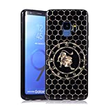 Coque pour Samsung S9, E-Lush Etui Housse Silicone TPU + Case Rigide PC Case Cover Ultra Mince Constellation Motif Antichoc Protection pour Samsung Galaxy S9 - Leo