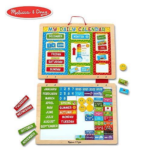 Melissa & Doug- My Daily Calendario Magnetico, Multicolore, 9253