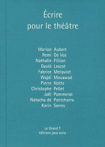 Ecrire pour le théâtre par Philippe Coutant, Collectif