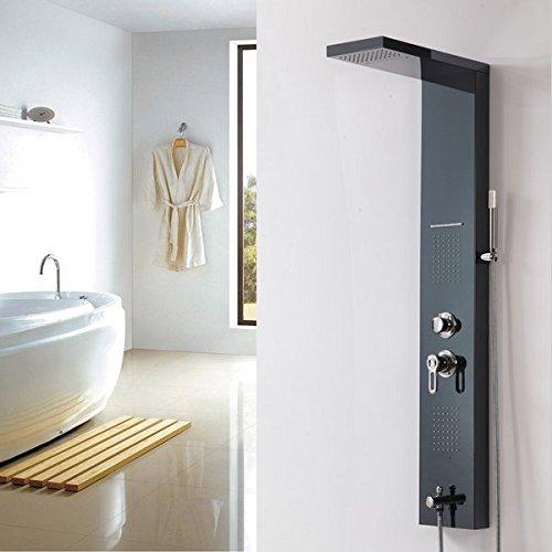 Gowe Edelstahl Body Massage Jets Duschsäule Wand montiert Regen Dusche Panel Öl eingerieben Bronze Finish -