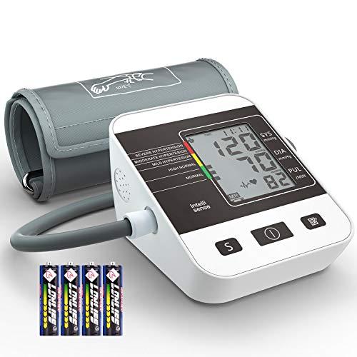 Tensiomètre Électronique Bras, Annsky Professionnel Tensiomètre Numérique Mesure Automatique de la Tension Artérielle et du Rythme Cardiaque, 2 Utilisateurs Dossiers de Sa