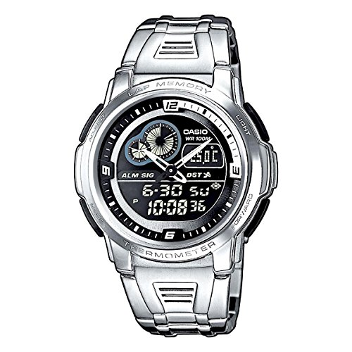 e246751251c7 CASIO 19242 AQF-102WD - Reloj Caballero cuarzo brazalete metálico dial negro