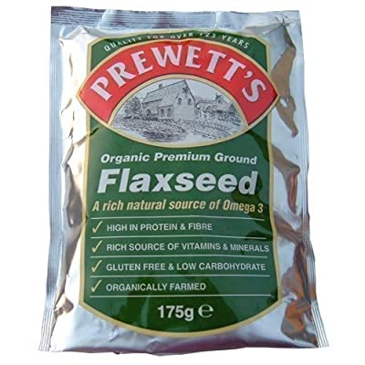 Prewetts Organic Premium Ground Flaxseed 175g - Pack of 3 by PREWETTS