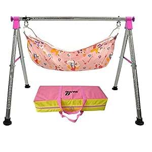 Multipro Indian Style Ghodiyu Born Baby Sleep Swing Cradle, Pink