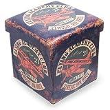 """Taburete Infantil Decorativo Retro"""" Air Race"""" Muebles Auxiliares. 33.5 x 32 x 32 cm."""