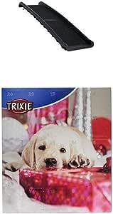 Dibea Dr00890 Hunderampe Klappbare Kunststoff Hundetreppe Mit Anti Rutsch Belag Leichte Auto Kofferraum Rampe Schwarz Adventskalender Für Hunde Haustier