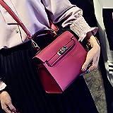 Wangji Damen Tasche europäischen und amerikanischen Mode Kelly Tasche matt Wild Modell wesentlich, rot
