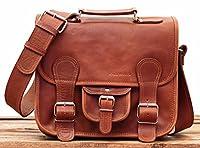 LE CARTABLE (S) Bolso bandolera de piel, tamaño pequeño, estilo vintage, color marrón, bolsa por la ciudad PAUL MARIUS Vintage & Retro