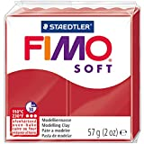 """FIMO 8020-2 P SOFT Modelliermasse, ofenh""""rtend, weihnachtsrot, 57 g"""