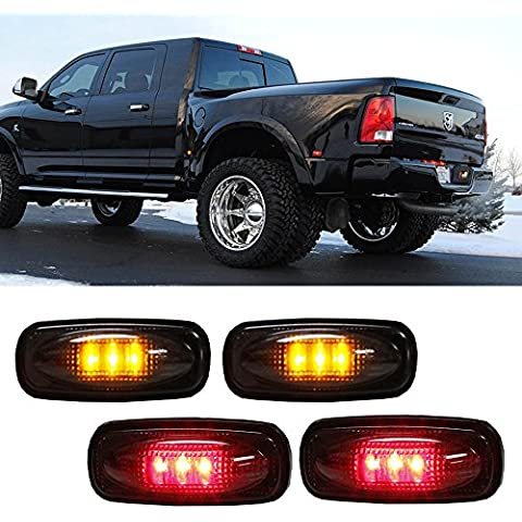 LED Eaglerich 12V rosso per 03-09 DODGE RAM camion luci di bordo Luci auto Universal Safety Car 4pics LED Auto Lamp