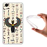 WoowCase Wiko Rainbow Up Hülle, Handyhülle Silikon für [ Wiko Rainbow Up ] Ägiptische Katze Handytasche Handy Cover Case Schutzhülle Flexible TPU - Transparent