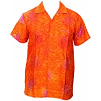 Saitark - Camicia hawaiana da uomo, motivo estivo