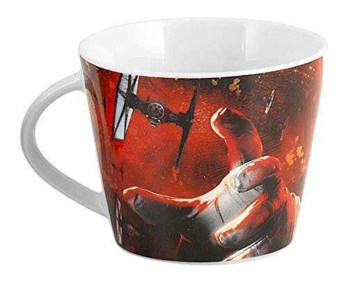 Home Star Wars - Taza de té con decoración de Kylo Ren, de Porcelana, Multicolor, 11,5 x 9 x 7 cm