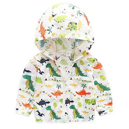 Kid Jacket Langarm mit Kapuze Cartoon Printed Sonnenschutz Kleidung Baby Outwear für Junge Mädchen (Activewear-jacke Farbe)