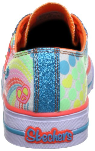 Skechers ShufflesHeart Sparks 10194L, Sneaker bambina Verde (Grün (MLT))