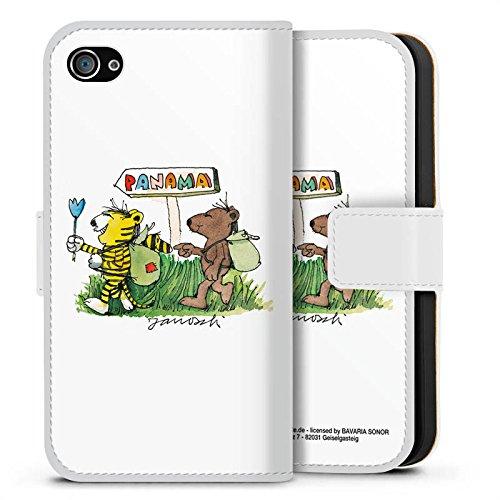 Apple iPhone X Silikon Hülle Case Schutzhülle Janosch Fanartikel Merchandise Panama Sideflip Tasche weiß