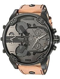 Diesel Homme Chronographe Quartz Montre avec Bracelet en Cuir DZ7406
