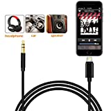Car Aux Cable Cord for iphone 7 7Plus/8 8Plus/X, 3.5mm Male Stereo Audio Cable Adapter for iphone,ipad,ipod,Home/Car Stereo,Speakers,Headphones, Support iOS 11 or Later, 1M