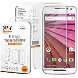 Orzly® - Prima Cristal Templado Protector de Pantalla para MOTOROLA MOTO G 3 (Moto G Gen 3 / 3ª Generación) SmartPhone / Teléfono Móvil (2015 Modelo) - 0,24mm Protectora Screen Protector - Transparent