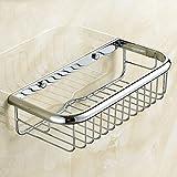 Möbel - YUE All-Kupfer-Material Quadratischen Badezimmer Korb Badezimmer Regal Badezimmer Hardware Anhänger Wand montiert rechteckigen Eckzarge