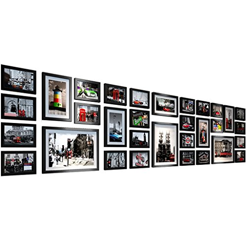Multi-Cadre européen Mur Photo Combinaison Cadre Murs Salon Chambre à Coucher (Noir Ensemble) -LI Jing Shop
